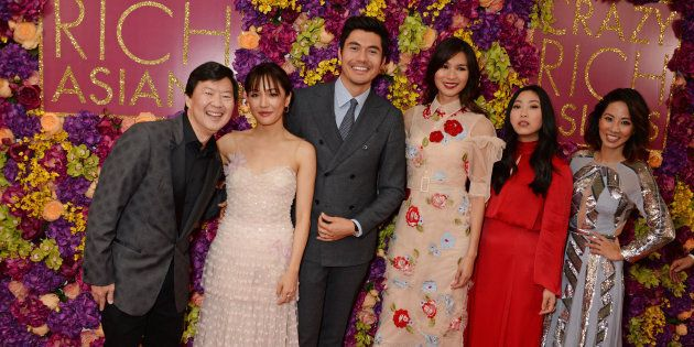 Some of the 'Crazy Rich Asians' cast attend a screening of the film in London, U.K. on Sept. 4,