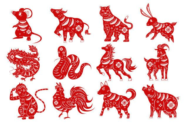 The 12 animals of the Chinese