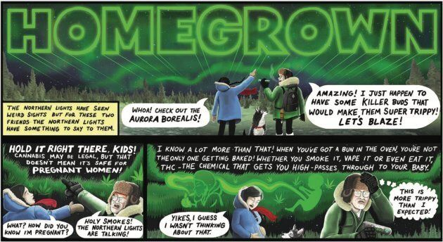 One of four government-funded augmented reality comics.