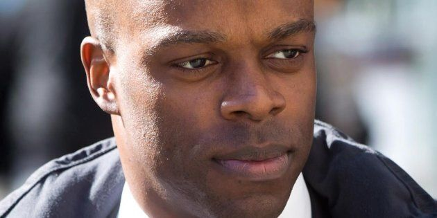 RCMP Const. Kwesi Millington at his perjury trial in Vancouver on March 10,