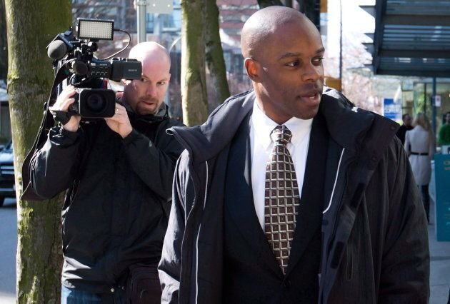 Kwesi Millington at his perjury trial in Vancouver, B.C., on March 10,