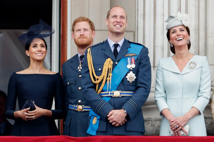 From left: Meghan, Duchess of Sussex; Prince Harry; Prince William; and Kate, Duchess of Cambridge are helping with a new mental health initiative in the U.K.
