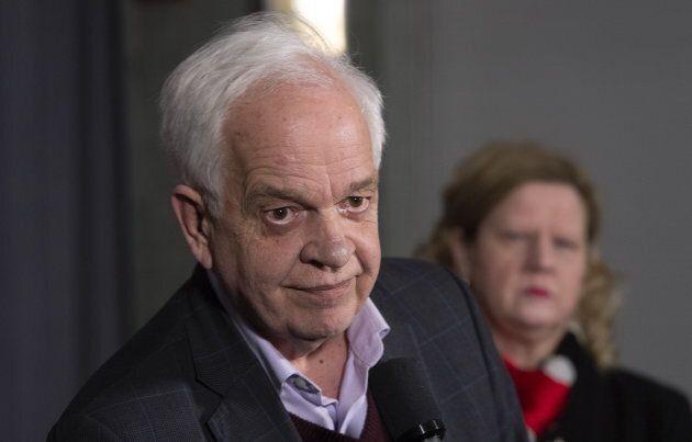 Canadian Ambassador to China John McCallum listens to a question on Jan. 16,