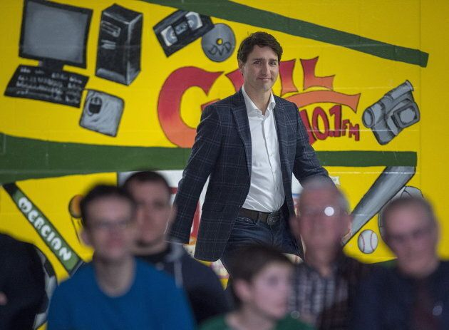 Prime Minister Justin Trudeau holds a town hall meeting at James M. Hill High School in Miramichi, N.B.,...