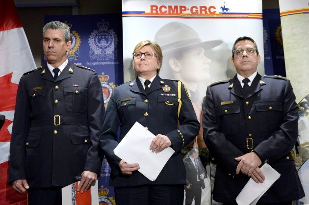 From left: Chief Supt. Michael LeSage, Criminal Operations Officer, RCMP