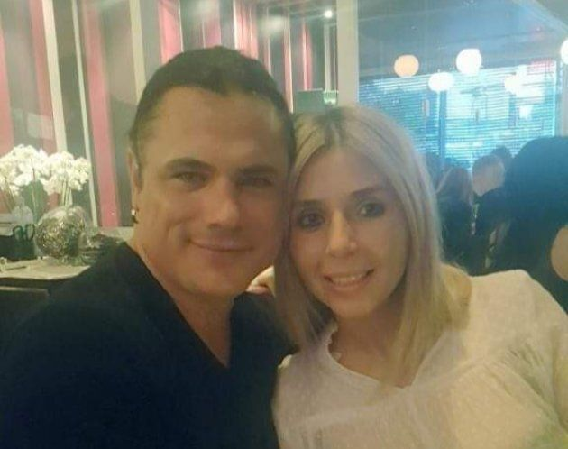 Patrick Brazeau and his fiancee, Marie-Claire.