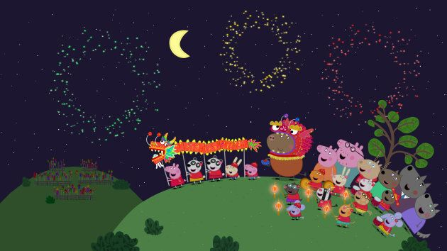 Peppa Pig and playmates celebrate Lunar New Year in one of two episodes premiering on Lunar New Year,...