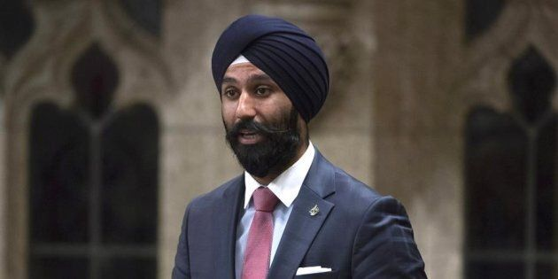 Liberal MP Raj Grewal rises in the House of Commons in Ottawa on June 3,