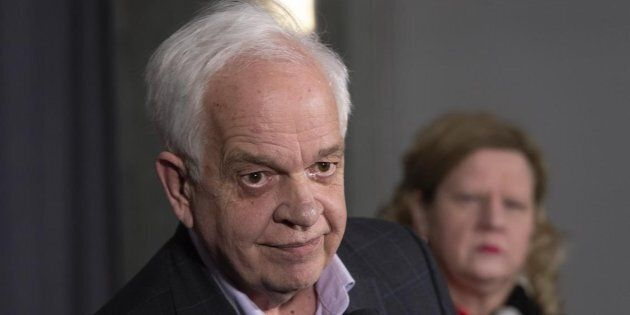 Canadian Ambassador to China John McCallum listens to a question in Sherbrooke, Que. on Jan. 16,
