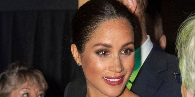 Meghan, Duchess of Sussex attends the Cirque du Soleil Premiere Of 'Totem' at Royal Albert Hall on Jan....