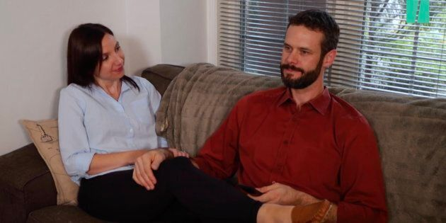 Parents editor Natalie Stechyson and her husband, Ian, Netflix and chill on a date night in the sex episode of