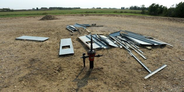 An abandoned well site near Lloydminster, Sask., Aug. 27, 2015. The Supreme Court says a bankrupt Alberta...