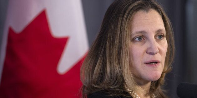 Foreign Affairs Minister Chrystia Freeland will host foreign ministers from several South American countries...