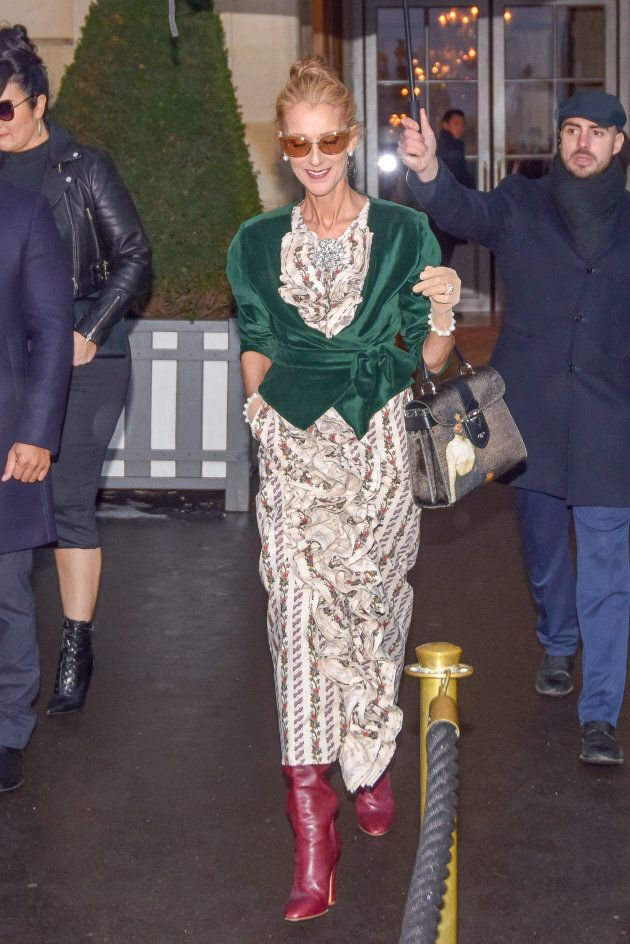 Céline Dion in Paris on Jan. 25, 2019 in Paris,