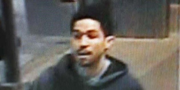 A suspect in the shooting of a transit officer is shown in this image provided by the Surrey RCMP Media...