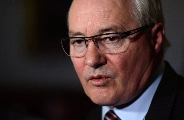 Liberal MP Wayne Easter holds a press conference in the foyer of the House of Commons in