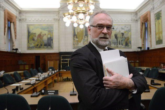Michael Ferguson on Parliament Hill in Ottawa on Oct. 25,