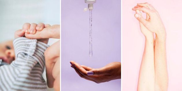 There's no normal when it comes to postpartum sex. But there is often lube.