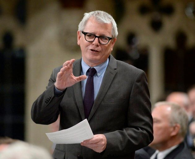 Adam Vaughan rises in the House of Commons on Parliament Hill on March 24, 2017.