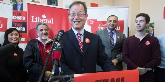 Richard T. Lee is the Liberal Party's second byelection candidate in the riding of Burnaby South. He attends a news conference in Burnaby, B.C., on Jan. 19, 2019.
