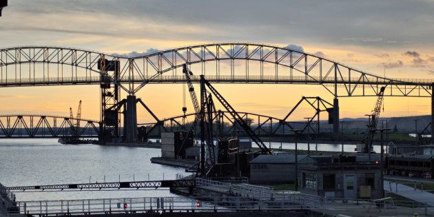 The Soo Locks in Sault Ste. Marie,