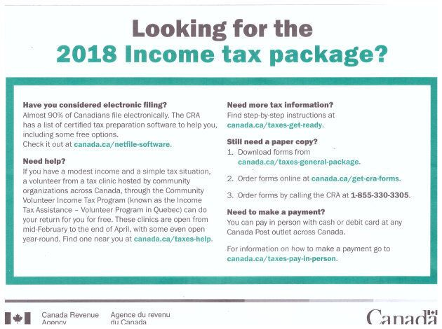 The CRA sure isn't making it easy to get a hold of a paper tax return.