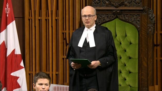 Speaker of the House of Commons Geoff Regan calling for a moment of