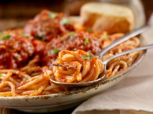 Spaghetti and meatballs is a perfect Sunday