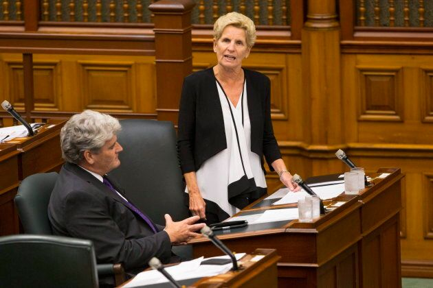 Former Ontario premier Kathleen Wynne speaks in the legislative chamber at Queen's Park in Toronto on...