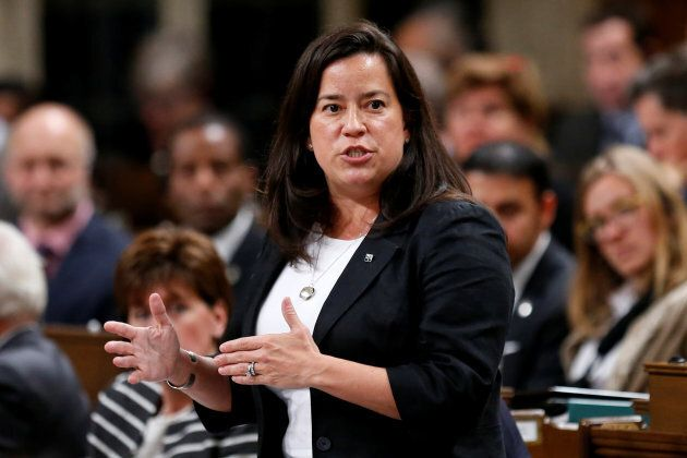 Jody Wilson-Raybould speaks during Question Period on Oct. 17,