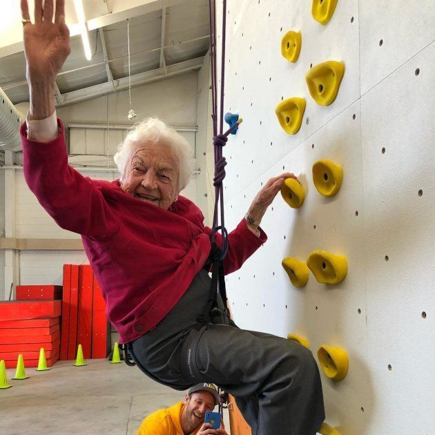 Hazel McCallion at Hub Climbing in Mississauga, Ont. on Feb. 9,