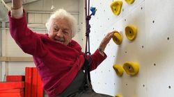 Ex-Ontario Mayor, 97, Casually Scales A Rock
