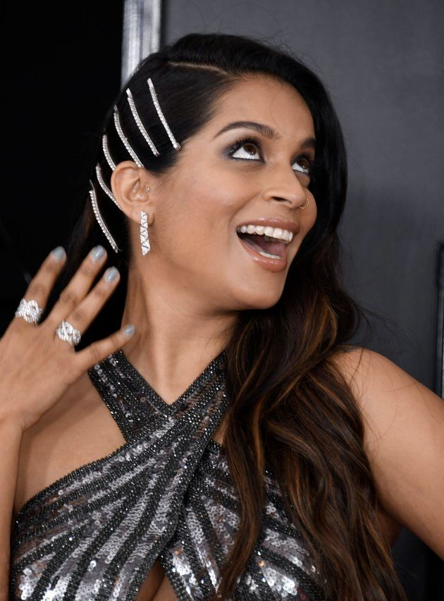 Actress Lilly Singh arrives for the 61st Annual Grammy Awards on February 10, 2019, in Los Angeles.