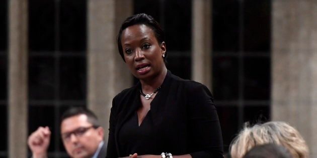 Celina Caesar-Chavannes speaks in the House of Commons on May 25,