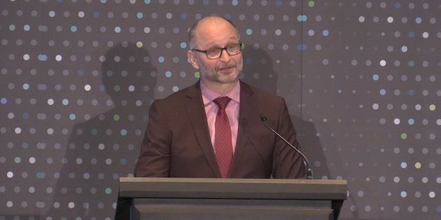 Justice Minister and Attorney General David Lametti delivers opening remarks at the Canadian Bar Association's annual meeting in Ottawa on Feb. 11, 2019.