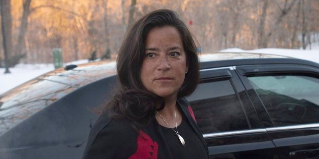 Jody Wilson-Raybould arrives at Rideau Hall in Ottawa, on Jan. 14, 2019 as the governing Liberals shuffle their cabinet.