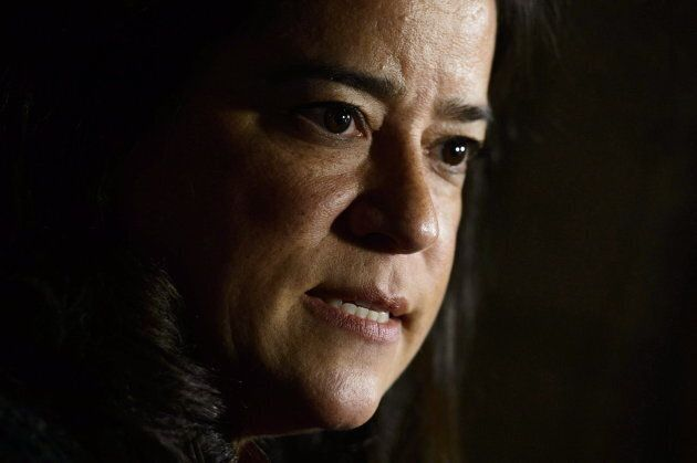 Jody Wilson-Raybould makes an announcement on Parliament Hill in Ottawa on Oct. 18,