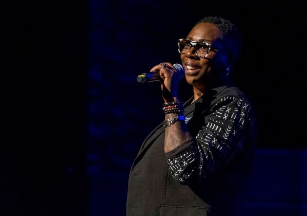 Comedian Gina Yashere performs in New York on Dec. 8, 2018.