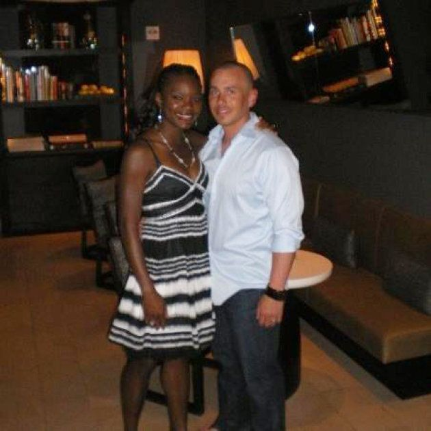 Adeola Omole and her husband are pictured in an April 2009