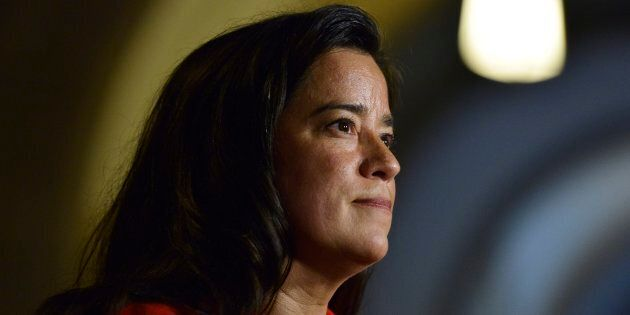 Justice Minister Jody Wilson-Raybould talks with media in Ottawa on June 6,