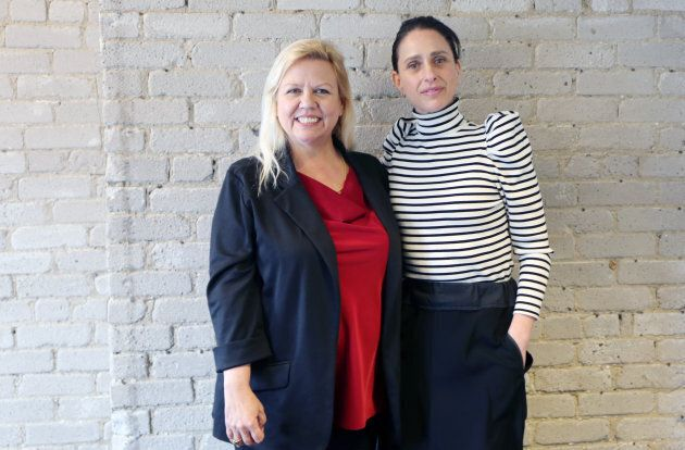 Jeannette VanderMarel (left) and Alison Gordon, co-CEOs of 48North Cannabis Corp., at their downtown Toronto office.