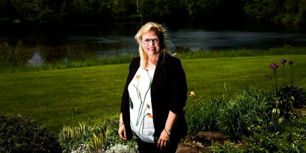 Jeannette VanderMarel, co-CEO of 48North Cannabis Corp., at her home in Ancaster, Ont. June 1,