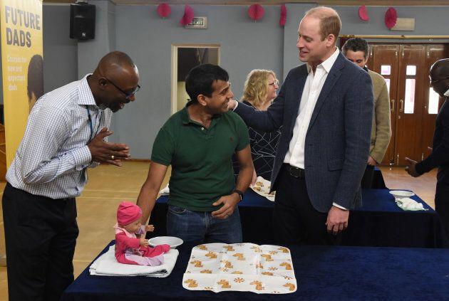 Prince William, Duke of Cambridge at the 'Future Men' Fathers Development Programme in London on Feb. 14, 2019.