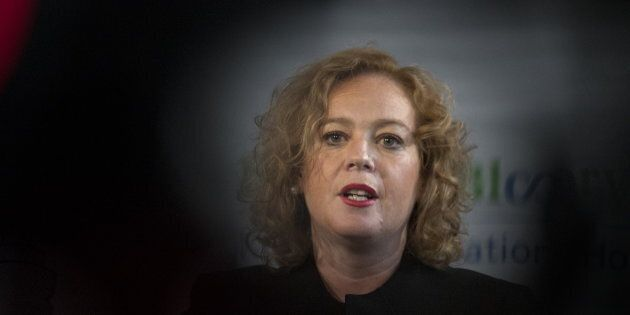 Ontario's Minister of Children, Community and Social Services Lisa MacLeod speaks at an announcement...