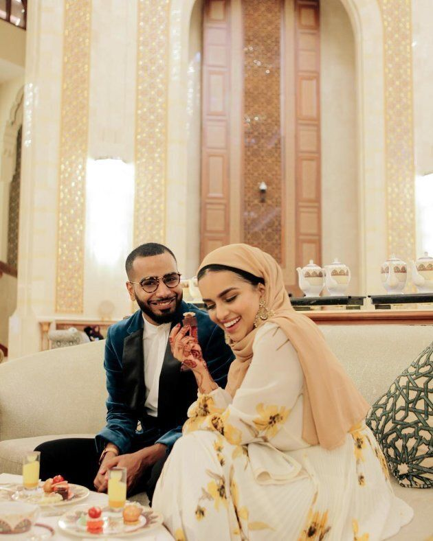 Fahmida Kamali and Ahmed Saleh started their romance as many young modern couples do - on