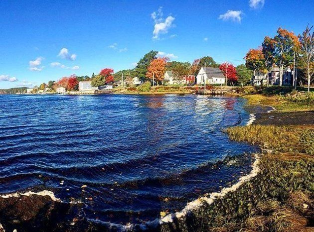 A view of the coast in Bridgewater,