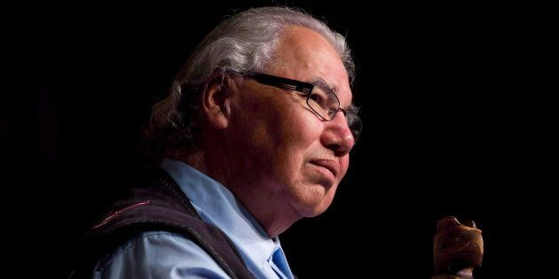 Murray Sinclair listens during the Truth and Reconciliation Commission of Canada British Columbia National...