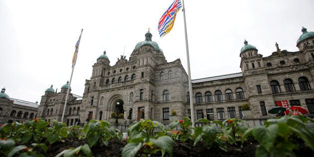 The British Columbia Parliament Buildings in Victoria, B.C., May 30,