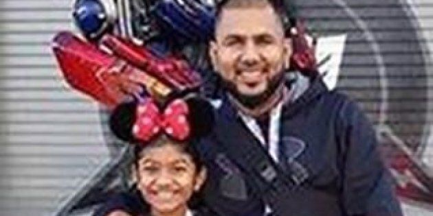 Riya Rajkumar, 11, and Roopesh Rajkumar, 41, are seen in this undated police handout