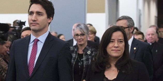 Prime Minister Justin Trudeau and then-minister of justice and attorney general Jody Wilson-Raybould...